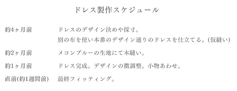 MEKONG BLUE WEDDING スケジュール